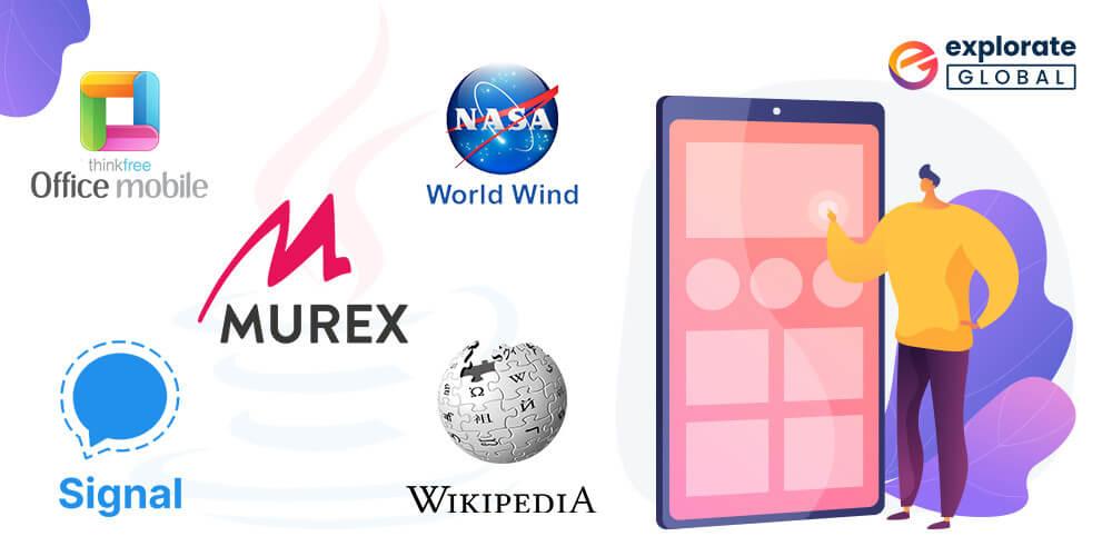 Top Java made Mobile Applications - ThinkFree Office/Hancom Office 2020, Signal, Murex, NASA WorldWind, Wikipedia Search