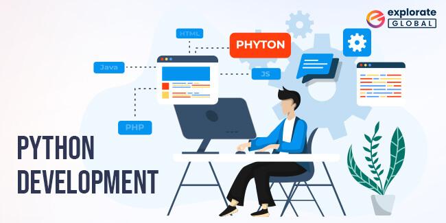 Python development framework is used for building Blockchain applications.